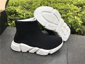 Citygear Moda Crianças Meias Botas Crianças High-Top Sapatos de Atletismo Do Bebê Slip-On Apartamentos Casuais Speed Trainer Tênis de Corrida Blk Azul Vermelho Laranja