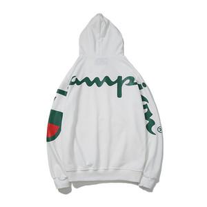 Moda marka Champ çok büyük LOGO baskılı Severler Çiftler yastıklı kaput Tişörtü Kapakları ile Sevimli Boyfriend Stil Hoodies kazak