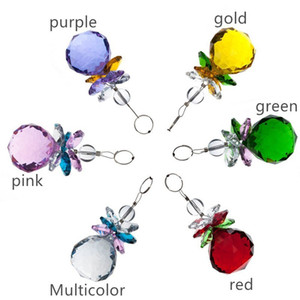 6 pcs Pendurado Rainbow Cristal Suncatchers Lustre de Cristais Bola Pingente Prisma Rainbow Criador Pendurado Chakra Sun Catcher Decoração de Casa