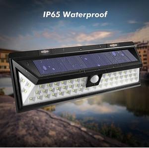 Su geçirmez 54 Güneş Işığı 2835 SMD Beyaz Güneş Enerjisi Açık Bahçe Işık Hareket PIR Sensörü Yollu Sutyen 3.7 V