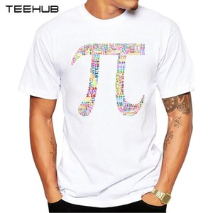 TEEHUB New Arrival 2018 Men Fashion Colorful Pi Math Design T-Shirt Short Sleeve Casual T Shirt Hipster Cool Tops
