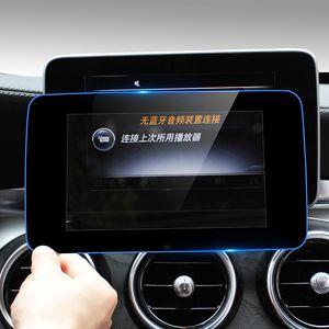 Coche Consola Interna Navegación GPS NBT Protección de Pantalla Panel de ajuste Cubierta Pegatinas Accesorios Para Mercedes Benz C clase W205 GLC GLA Styling