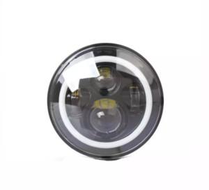 7Inch Haute Puissance 75 W LED Lampes Phares avec Blanc Halo Anneau Angel Eyes et Ambre Clignotant Halo pour Jeep Wrangler JK