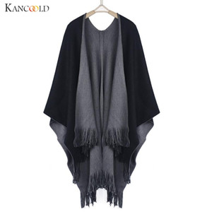 Autumn Winter knitted sweater Women cashmere sweater women Poncho Capes Shawl Swing Cloak Cardigans Sweater Coat drop shipping Y200819