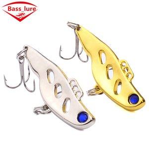 Ojos 3D Metal VIB Pesca con Mosca Cebo Artificial 4.5 cm 10.5g Oro Plata Laser lentejuelas Plantillas Spinnerbaits Jigging señuelo