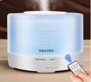 Humidificateur ultrasonique à télécommande d'aroma de l'air 500ml avec le diffuseur électrique d'arome d'huile essentielle d'Aromatherapy de 7 lumières de LED