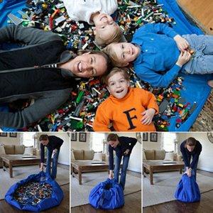 Новые красочные детские игры коврик роскошные игрушки хранения сумки играть коврики портативный игрушки одеяло ковер коробки игрушки организатор Рождественский подарок WX-T96