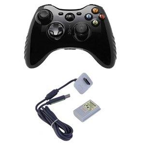 Freeshipping 2 in1 4800 mAh Şarj Edilebilir NI-MH Pil Paketi Kiti + USB Kablosu Şarj Şarj Xbox 360 Konsol Kablosuz Denetleyicisi Için Yedekleme