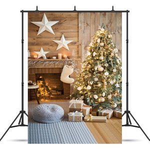 Christmas Backdrop Fireplace Christmas Tree Photo Background Sfondi personalizzati in vinile per Photo Studio Photosession of Newborn
