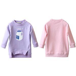 Kids Toddler Bottle Printed Warm Tops Sweatshirt Girl Pullover Coat Baby Jacket