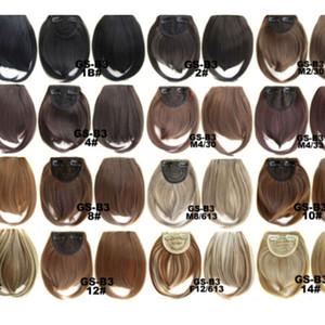 Kurz Vorne Ordentlich Pony Clip in Bang Fringe Haarverlängerungen gerade Synthetik Real Natural Haarteil Braiders Zubehör