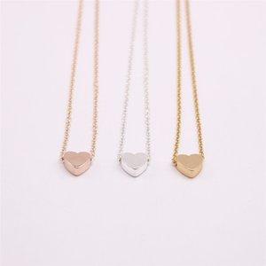 Collier plaqué or argent 18 carats Collier plat solide à fond plat, le meilleur cadeau pour les femmes