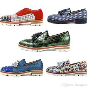 Männer Tassilo Luglion Wohnungen Nieten Mode Loafers Plattform Spikes Oxfords Freizeit Wanderschuhe Männliches Kleid Hochzeit Creepers Schuhe