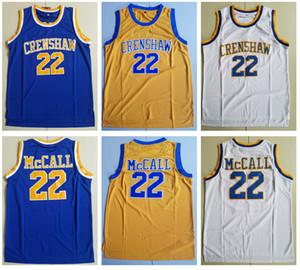 남성 사랑하고 농구 MOVIE 저지 (22) 퀸시 맥콜 크렌쇼 고등학교 농구 저지 저렴한 스티치 셔츠 S-XXL