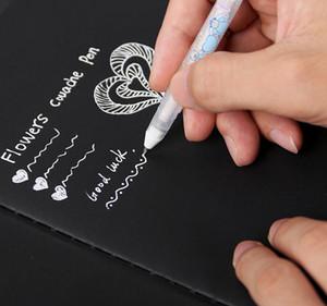 Tinta branca Cor Photo Album 0.8 MM Gel Caneta Bonito Unisex Caneta de Presente Para As Crianças Artigos de Papelaria de Aprendizagem Material Escolar