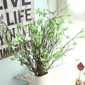 Simulazione vimini verde germoglio ramo secco cerimonia di nozze forniture di fiori artificiali arredamento per la casa fiori di seta decorare vendita calda 5yn Ww