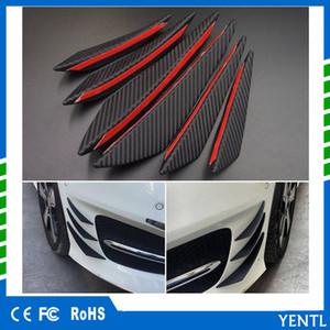 frete grátis Yentl 6pcs carro de fibra de carbono Universal Frente Car Bumper Fin Splitter Spoiler Canard Valence Lip Rubber Fin denominar Lip