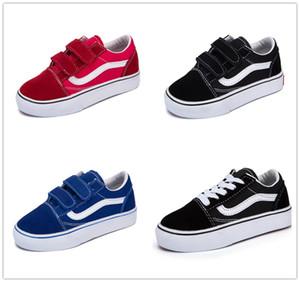 Vans Old Skool classics Zapatos infantiles infantiles clásicos 2018 viejos skool niños ocasionales niñas negro blanco rojo bebé niños lona monopatín deporte zapatillas 22-35