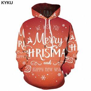 KYKU À Capuche De Noël Hommes Hip Hop Street Wear Heureux Xmas 3d Hoodies Long Sweat Imprimé À Capuche Harajuku Vêtements Pour Hommes Automne