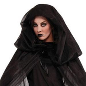 Унисекс Хэллоуин взрослые женщины страшные призраки костюмы ребенок девочка ведьма костюм Дьявол одежда детские костюмы с косплей длинные фантазии плащ