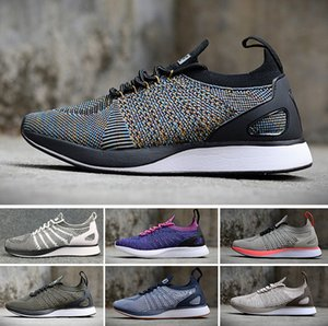 NIKE Air Flyknit Racer Be True 2 2018 Racers Trainers Knit Oreo Black White Grey casual Lunar Free jogging Shoes Men Women summer shoes size 36-45