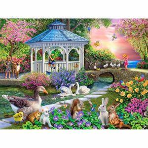 5D DIY полный квадрат дрель Алмаз живопись вышивки крестом мультфильм Лебедь сад стразами вышивка мозаика домашнего декора