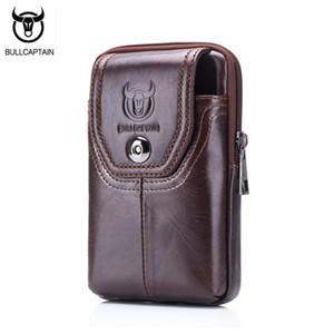 wholesale Phone Cigarette Purse Fanny Pack Waist Bag Leather Hip Bum Money Belt Bag Waist Packs Men Belt Pouch Bags Vertical