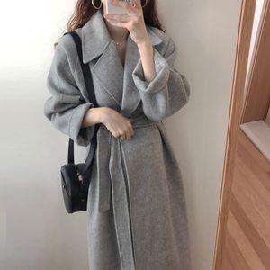 Femmes coréenne hiver Pardessus Outwear Coat Taille en vrac plus Cardigans manches longues Femme Manteau élégante robe d'hiver Hiver