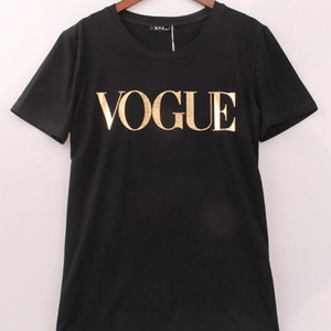 2018 Summer Free shipping Tops Vêtements mode pour femmes VOGUE Lettre T-shirt imprimé Femme T-shirt Camisas T-shirts dames chaud T-shirt