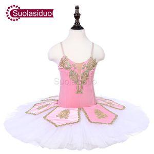 Kids Pink Stage Ballet Tutu Costumes Children Performance Competition Ballet Apperal White Adult Professional Ballet Skirt Dresses