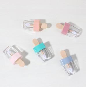 5 ml Bunte leere DIY Lip Gloss Flaschen Rosa Grün Orange Süße Eisform Nette Lipgloss Lippenstift Tube für Mädchen SN1477