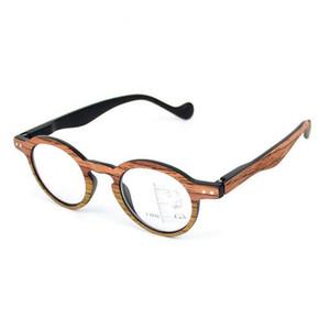 خمر الرجعية التقدمي نظارات القراءة النظارات المتعددة البؤر متعدد التركيز النظارات القريبة والبعيدة متعددة الوظائف نظارات + 1.0 ~ + 3.0 الخشب الحبوب