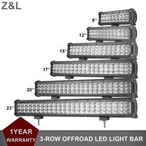 자동차 SUV LED 조명 바 3ROWS 표시기 램프 12V 24V 4 륜 트랙터 FRONT ROOF AUXILIARY DRIVING LAMP