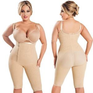 Hot Fajas Colombianas Women's Seamless Thigh Slimmer Open Bust Shapewear Firm Control Bodysuit Full Body Shaper Plus Size