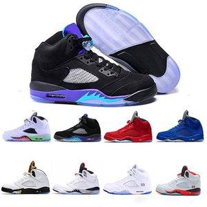 Air Jordan Retro 5 5s Nike AJ5 Meilleure vente de chaussures pour hommes 5 5S V Olympic métallisé Or bleu sude Homme Basketball Chaussures OG Noir Metallic rouge extérieur hommes Sport Sneakers