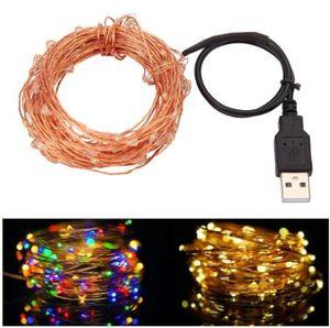 10M 33FT 100led USB Led fil de cuivre guirlande lumineuse guirlandes guirlandes étanche pour le festival de noël guirlande de noël guirlande décoration