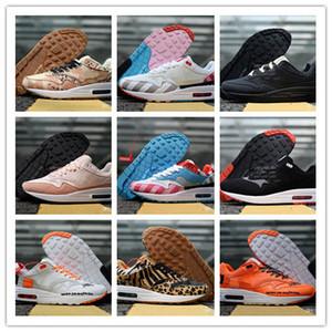 Piet Parra x 1 SE DLX ATMOS Race Floral Camo Premium Plaid en daim Chaussures de course Femmes Baskets Hommes 1s Chaussures Sneakers Taille 36-45