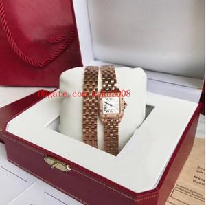 Montre bracelet à la mode WGPN0013 22X30 MM VOITURE Ballon Bleu Montre en or rose 18 carats avec diamants et lunette VK Quartz Montre de travail pour femme