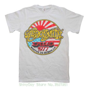 El más nuevo 2018 Moda Hombre Aerosmith Boston To Budokan 1977 Slim Fit Tour Tour T-shirt