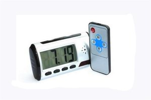 Hot Camera Clock HD Novità Digital Alarm Clock Rilevatore di movimento Registratore di suoni PC video digitale con controllo remoto