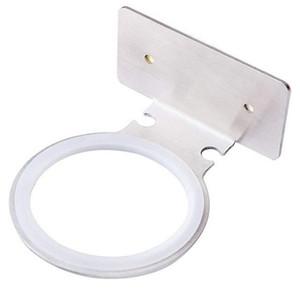 304 Asciugacapelli in acciaio inox titolare rotondo pratico accessori per il bagno autoadesivi Set spazzolato finitura 1pcs drop ship