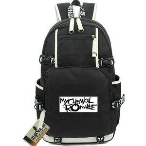 My Chemical Romance рюкзака Indie рюкзака рок-группа Schoolbag Music ранце Компьютер рюкзак Спортивная школа мешок Из двери день пакет