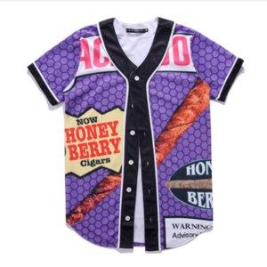 New T 3D Fashion T Summer Style Uniform Hop Shirt Unisex Men Couple Honey Berry Blunts Shirt Baseball Hip Shirt Backwoods BQF02 Cfcpx