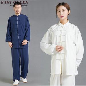 Toptan tai chi üniforma unisex wushu giyim taiji kungfu giyim uzun kollu bruce üniforma S-XXXL AA2701 YQ
