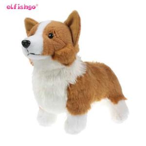 Kawill Corgi Boneca de Pelúcia Cães Crianças Brinquedos Bonito Simulação de Corgi Animais De Pelúcia Brinquedo Educativo para Crianças Presente 30 cm