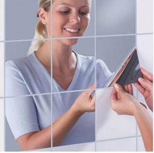 16 шт. / Компл. Зеркало Наклейки На Стены Наклейка Самоклеящиеся Плитки Зеркало Наклейки 3D Зеркало Wall Art Home Decors наклейки на стены