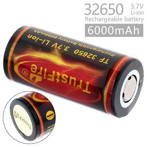 1 adet TrustFire 3.7 V 32650 Yüksek Kapasiteli 6000 mah Li-Ion Şarj Edilebilir Pil ile Elektrikli oyuncaklar için Korunmuş PCB CHA_371