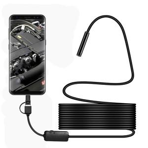 USB Type-c 3-in-1 Endoscopio Telecamera resistente agli agenti atmosferici Micro USB Inspection Camera 1200P HD IP68 8MM Impermeabile Tube Snake Borescope Camera