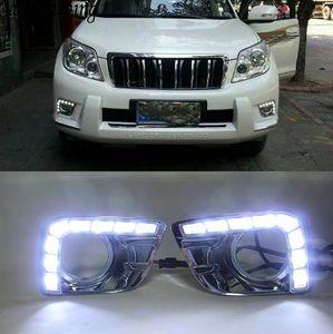 2pcs LED d'éclairage diurne DRL avec ANTIBROUILLARD trou pour Toyota Prado FJ150 LC150 2010 2011 2012 2013 Land Cruiser