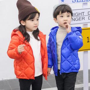 JMFFY детские малыш девушки пальто осень зима с капюшоном мальчики куртка тонкий 2018 Детская одежда верхняя одежда молния Девочка Мальчик вниз пальто 2-9